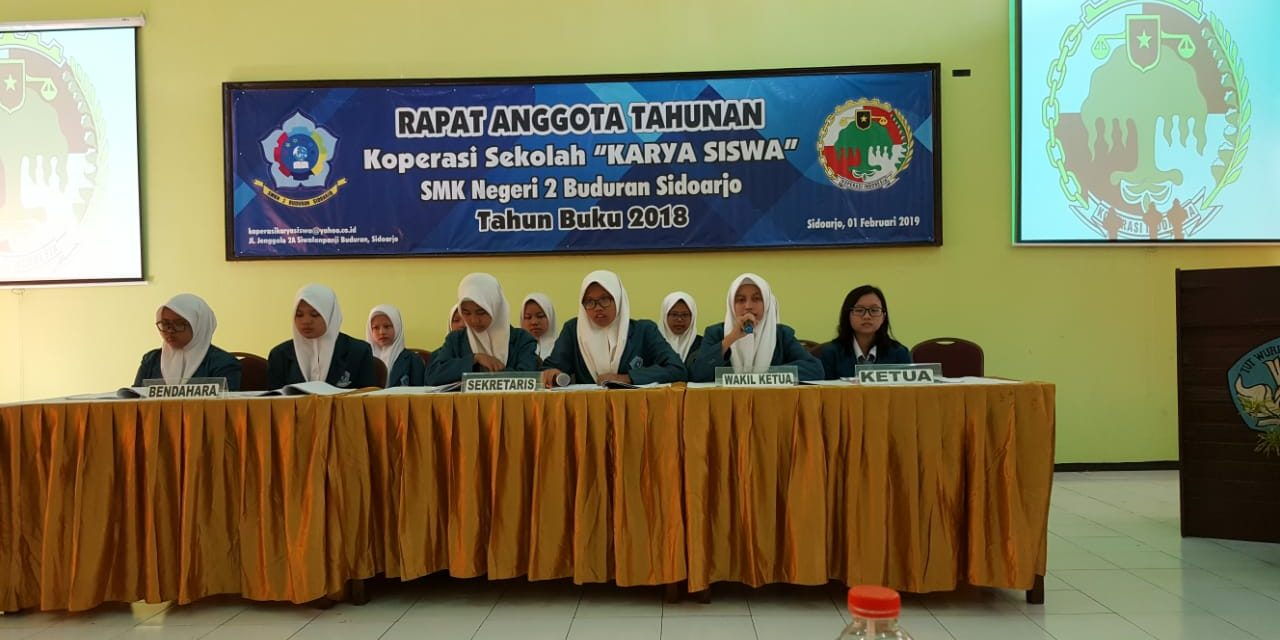 Rapat Anggota Tahunan (RAT) Koperasi Karya Siswa SMKN 2 Buduran