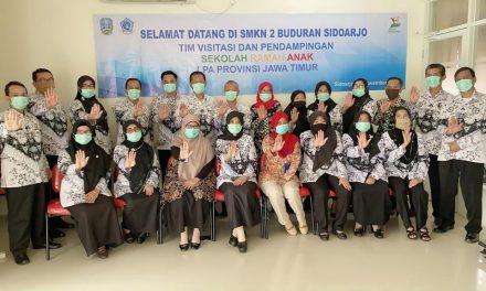Visitasi Sekolah Ramah Anak di SMKN 2 Buduran Sidoarjo
