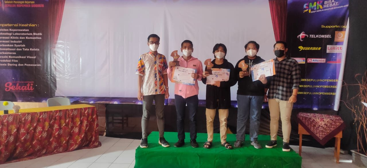 Siswa SMKN 2 Buduran Juara 1 Lomba Logo dan Film Se-Surabaya