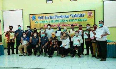 MOU dan Tes Perekrutan PT. Yamaha Dengan 31 Sekolah Se-JATIM