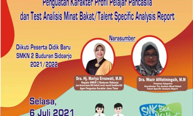 Penguatan Karakter Profil Pelajar Pancasila & Tes Analisis Minat Bakat